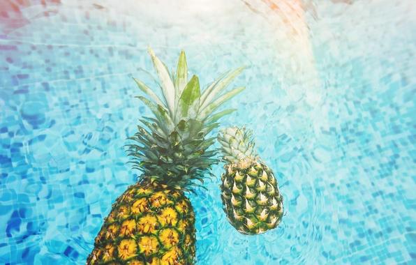 Картинка вода, бассейн, ананас