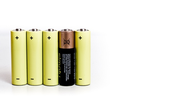 Фото обои positive, negative, batteries