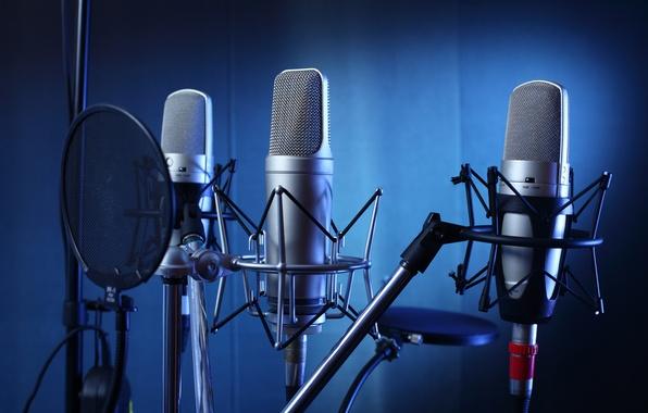 Картинка studio, professional, microphones