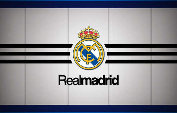 Картинка logo, white, emblem, minimalism, background, football, soccer, Spain, football club, los blancos, El Real, Real …
