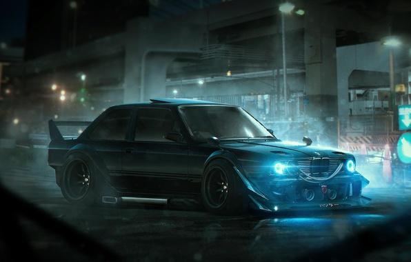 Картинка BMW, Tuning, Future, E30, Rendering, by Khyzyl Saleem