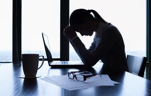 Картинка woman, work, tiredness