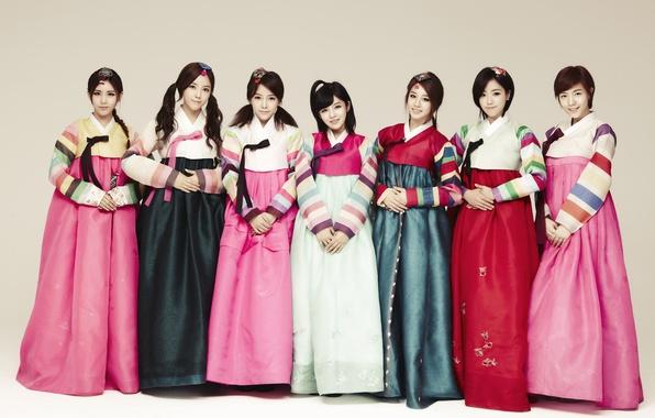 Картинка музыка, девушки, азиатки, Южная Корея, Kpop, T-ARA, ханбок
