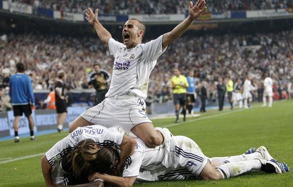 Картинка радость, победа, каннаваро, real madrid, гол, реал мадрид, stadium