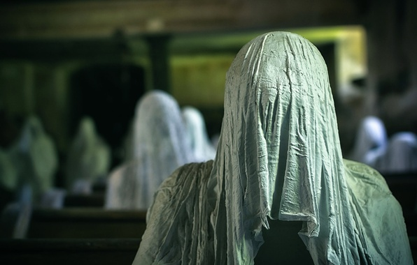 Картинка призраки, фигуры, жуть, Ghosts, Church of Ghosts