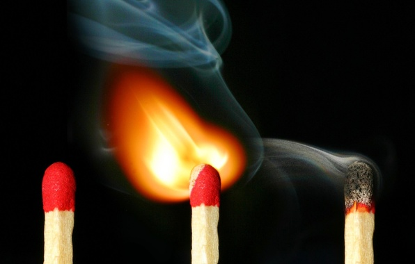 Картинка огонь, дым, спички, 157