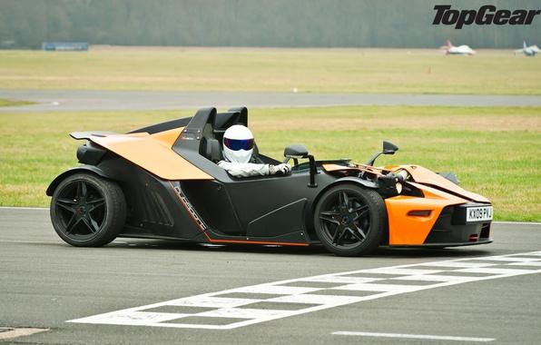 Картинка Top Gear, суперкар, трек, KTM, передок, ктм, Stig, Стиг, самая лучшая телепередача, высшая передача, топ ...