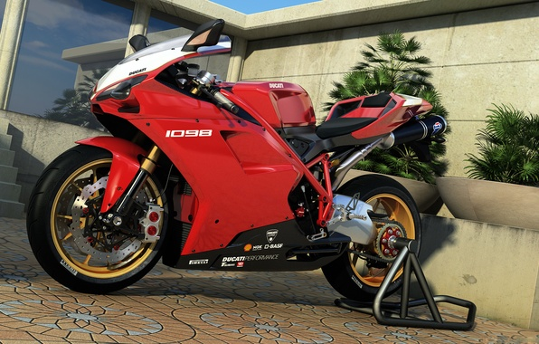 Картинка графика, арт, мотоцикл, Ducati, dangeruss, 1098