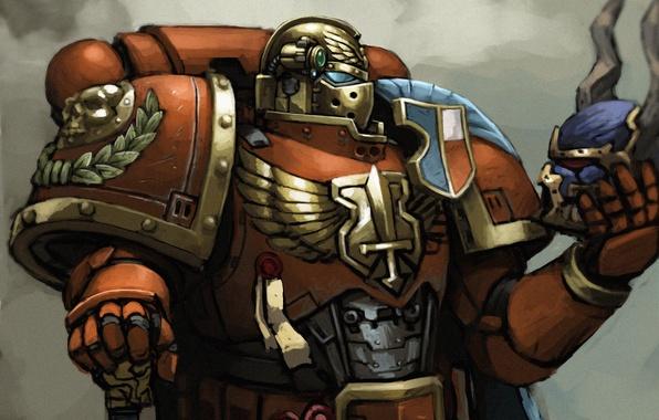 Картинка Warhammer 40000, Blood Angels, Warhammer 40K, Space Marines, Adeptus Astartes, astartes