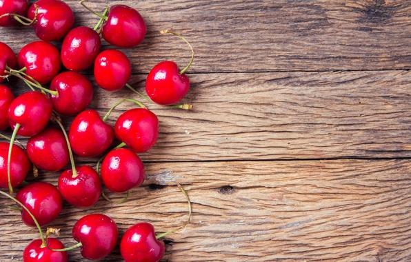 Картинка вишня, ягоды, fresh, wood, черешня, sweet, cherry, berries