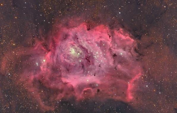 Картинка космос, звёзды, Лагуна, Туманность, в созвездии Стрельца, межзвёздное облако