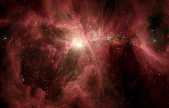 Картинка туманность, Орион, Spitzer