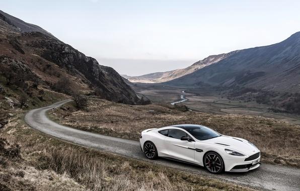 Картинка Aston Martin, астон мартин, UK-spec, Vanquish, ванквиш, 2014, Carbon White
