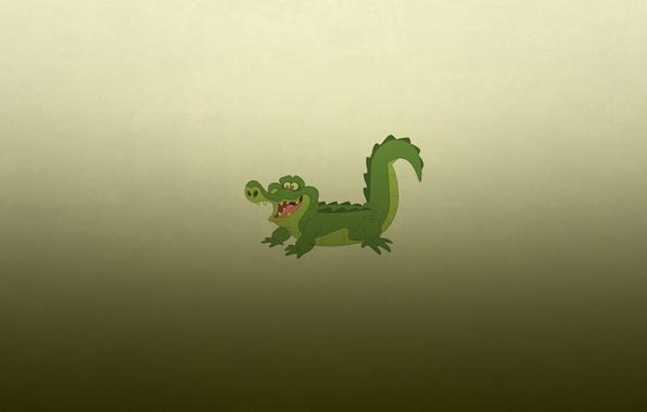 Картинка улыбка, минимализм, крокодил, аллигатор, crocodile, зеленоватый фон, alligator