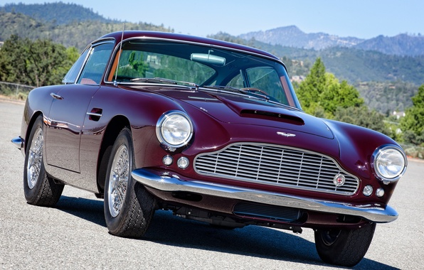 Картинка ретро, Aston Martin, фары, астон мартин, классика, передок, 1958, DB4