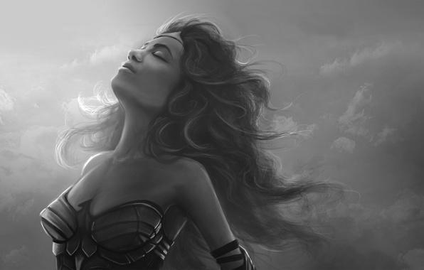 Картинка женщина, арт, Wonder Woman, DC Comics, Diana Prince