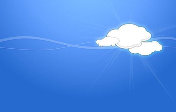 Картинка облака, линии, минимализм, вектор