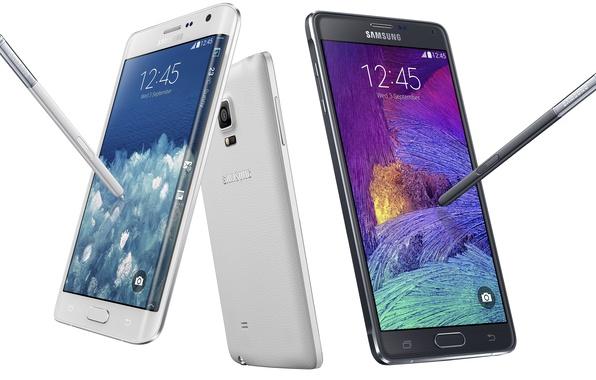 Картинка белый, черный, white, black, android, grey, Edge, смартфон, phone, Samsung, smartphone, Samsung Galaxy Note 4, …