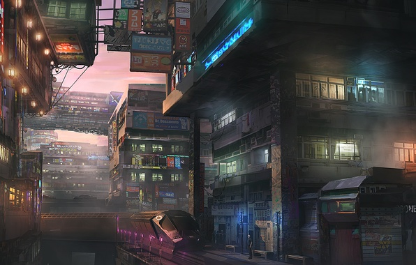 Картинка город, будущее, япония, Tokyo, Shinjuku, район