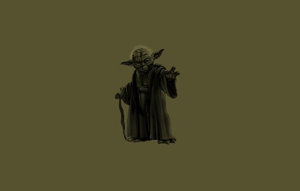 Картинка зеленый, темный, трость, звездные войны, star wars, жест, джедай, палка, yoda, йода, jedi, магистр, ухи