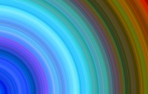 Картинка свет, туман, цвет, радуга, кольца