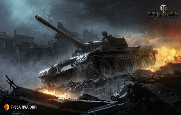 World of tanks wargaming net wot мир танков wg t 55a nva