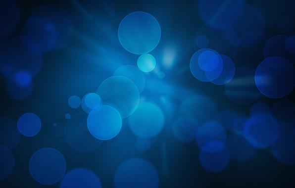 Картинка круги, синий, абстракция, фон, обои, wallpapers