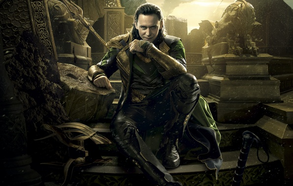 Картинка Dark, World, Action, Disney, Fantasy, Sky, Green, Black, Warrior, The, Marvel, Golden, Smoke, Thor, Walt, …
