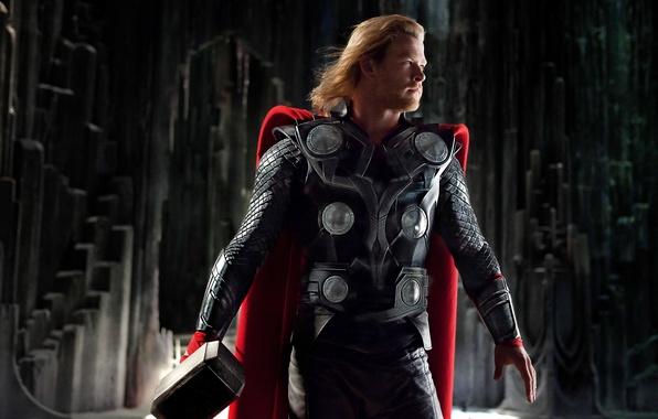 Картинка Герой, Молот, Thor, Тор, Бог, Крис Хемсворт, Chris Hemsworth, Викинг