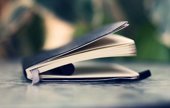 Картинка макро, ручка, книга
