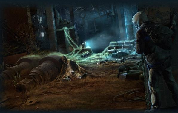 Картинка здание, человек, солдат, сталкер, GSC Game World, Survarium