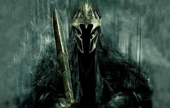 Картинка меч, корона, Властелин колец, Король-Чародей, Дж. Р. Р. Толкин, The Lord of the Rings, назгулов, …