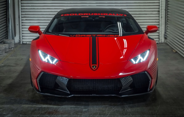Картинка свет, фары, Lamborghini, автомобиль, Vorsteiner, передок, Huracan, Novara