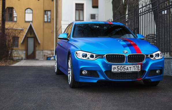 Картинка BMW, Car, Blue, 335i, xDrive