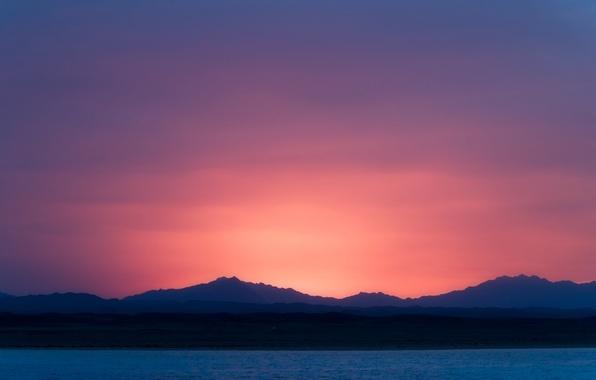 Картинка небо, вода, закат, природа, вечер