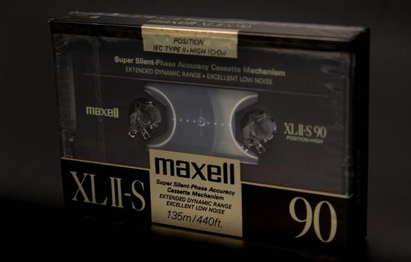 Картинка макро, музыка, фон, кассета, maxell