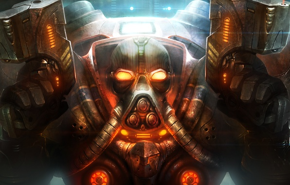 Картинка оружие, арт, броня, StarCraft II, TamplierPainter, Fan Art