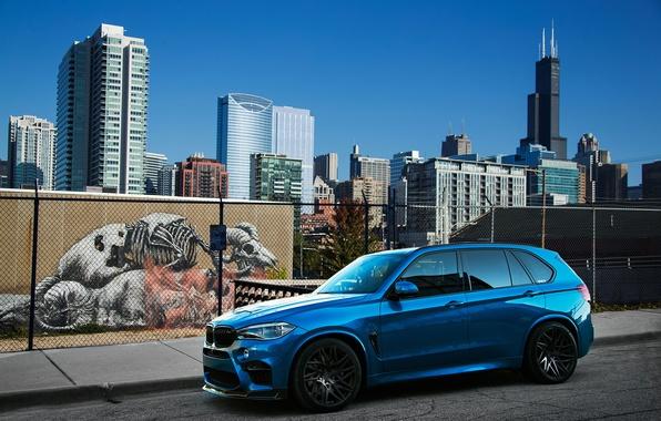 Картинка BMW, Голубой, Автомобиль, IND, Металлик, 2015-16, X5, M