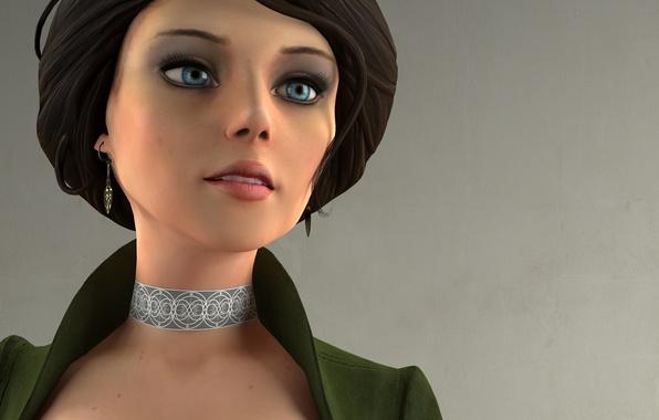 Картинка взгляд, девушка, рендеринг, персонаж, BioShock Infinite, Элизабет