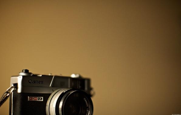 Картинка минимализм, фотоаппарат, canon, camera, hi-tech