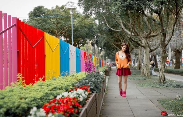 Картинка девушка, улица, азиатка, aniki