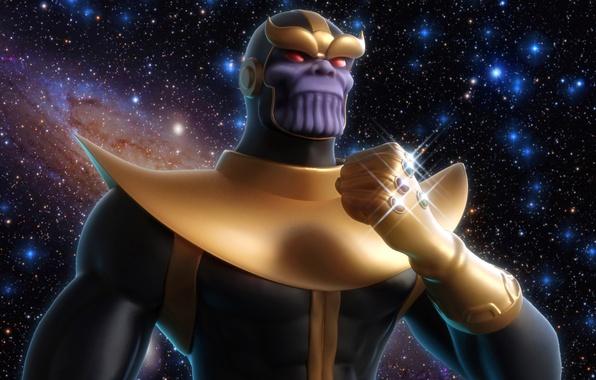 Картинка злодей, титан, Marvel Comics, Thanos