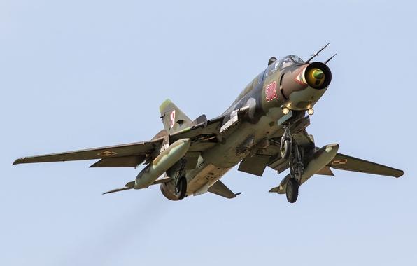 Картинка Истребитель, бомбардировщик, взлет, Су-22