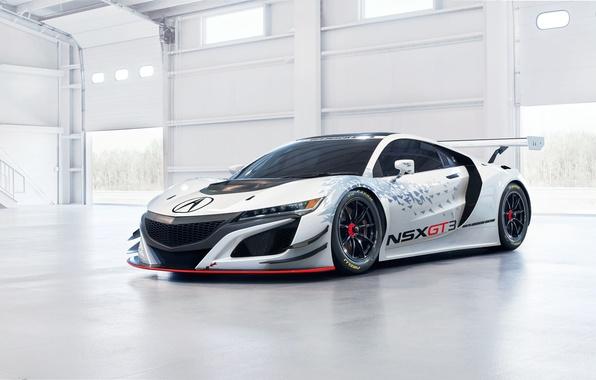 Картинка суперкар, Honda, хонда, GT3, акура, Acura, NSX
