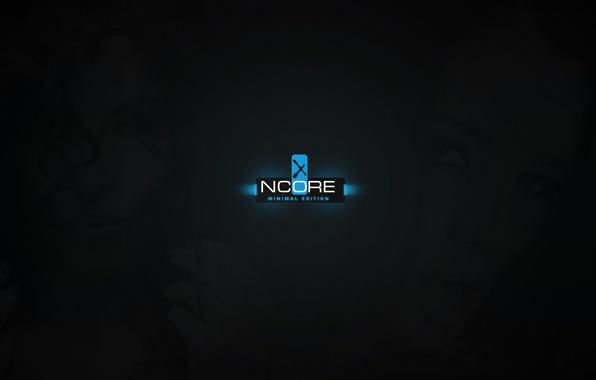 Картинка light, girl, black, blue, ncore