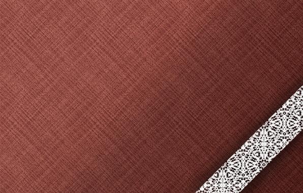 Картинка белый, фон, текстура, ткань, коричневый, кружево, бордовый