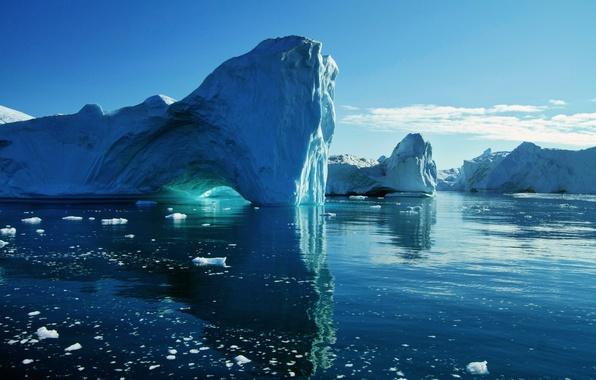 Картинка лед, море, вода, ледник, айсберг