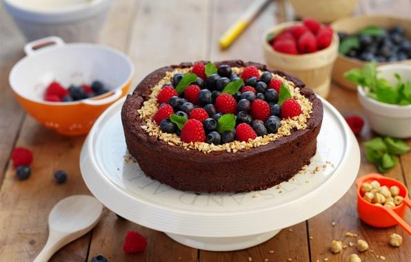 Картинка ягоды, малина, пирог, торт, cake, крем, десерт, смородина, выпечка, сладкое, sweet, dessert, berries