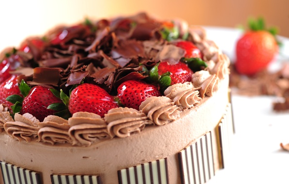 Картинка ягоды, еда, шоколад, клубника, торт, пирожное, cake, крем, десерт, food, сладкое, chocolate, dessert, berries, чизкейк, …
