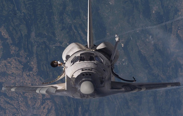 Картинка космос, NASA, шатл